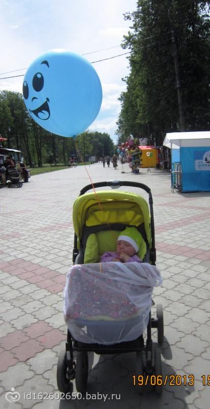 вырвались вчера в парк)