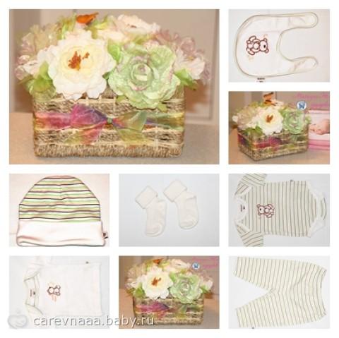 Подарок для новорожденного из одежды 3
