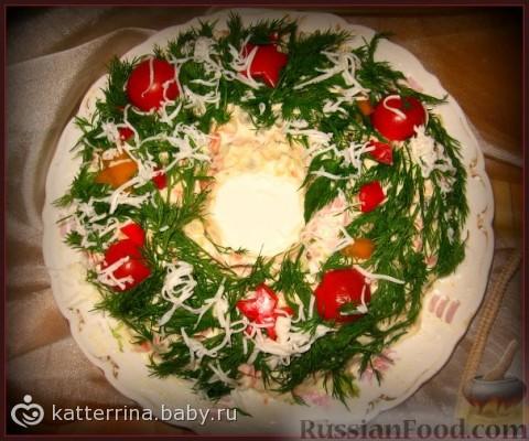Украсить салат оливье фото