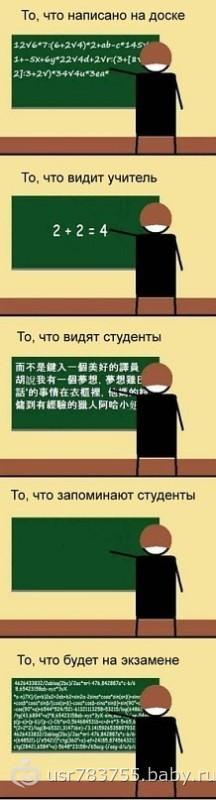 Что видит преподаватель-что видят студенты!
