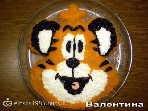 салаты на новый год тигра фото