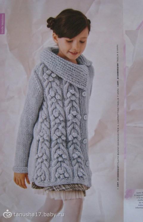 Вязание крючком пальто для девочек 4 лет 38