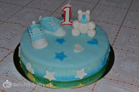 Мой первый мастичный тортик!!! Добавила рецепт!