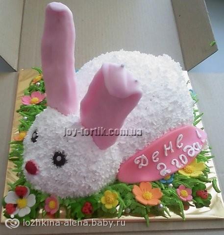 Детские торты в виде животных фото