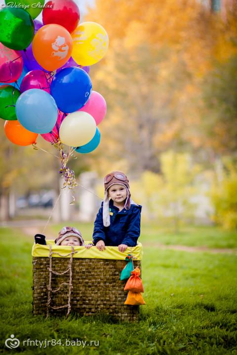 Воздушный шар и ребенок 3