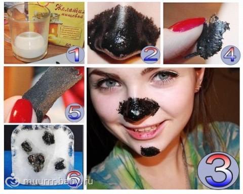 маска пленка из желатина и угольных таблеток