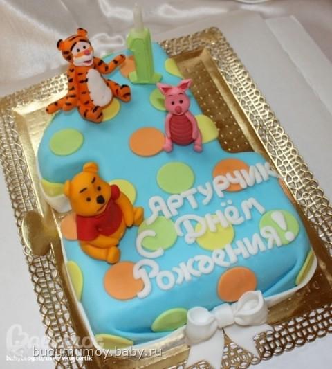 Торт на один годик мальчику фото