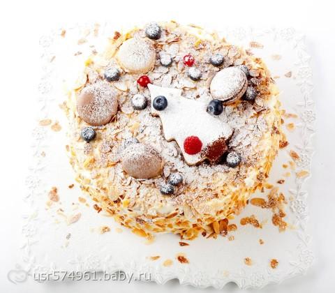 рецепт торт наполеон с кремом маскарпоне