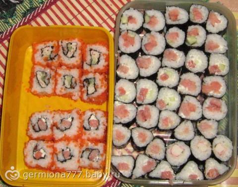 Суши роллы готовим дома рецепт фото