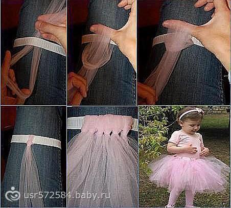 Как сделать юбку пачку на ребёнка