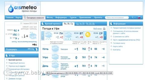Прогноз погоды в свердловской области на завтра