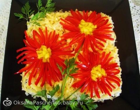 рецепт салата из красной фасоли с крабовыми палочками