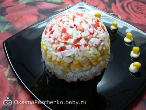 Салат из крабовых и апельсина рецепт фото