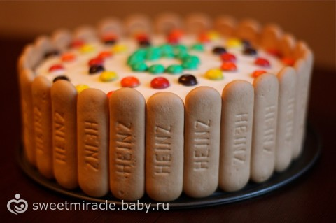 торт детский с печеньем,рецепт с фото