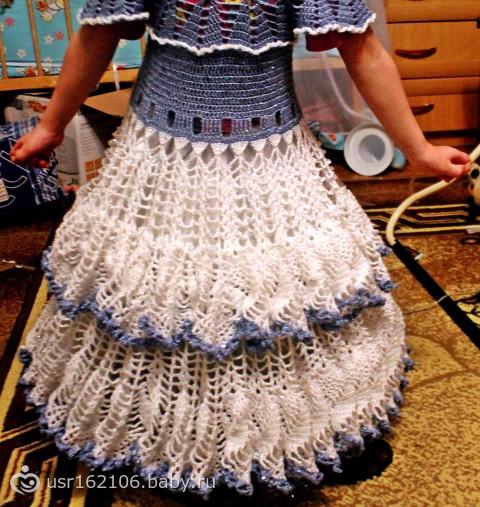 Выпускное платье в садик крючком
