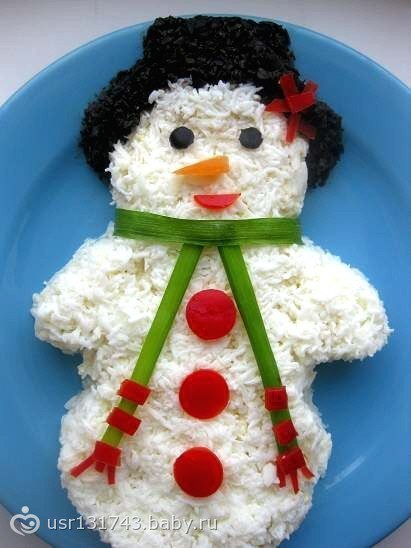 Салат снеговик рецепты с фото
