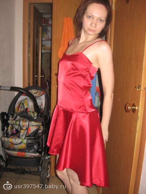 Как шить платья с атласа