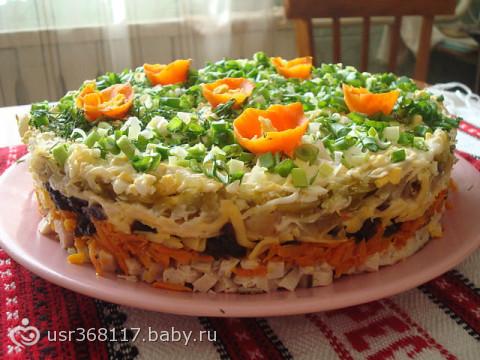 рецепты многослойных салатов с фото