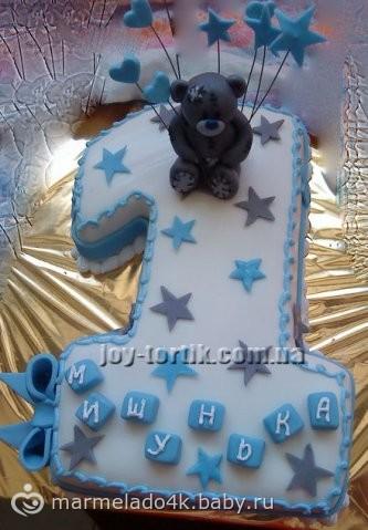 Торт единица-фото