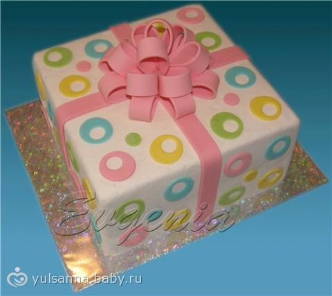 Торт-подарок фото