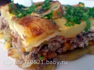 Идея для ужина в Мультиварке.«Картофельная запеканка»
