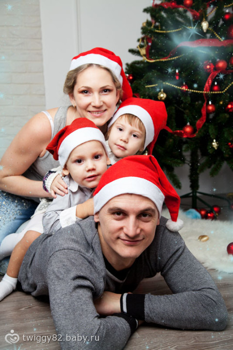Новогодние фотосессии семьи фото