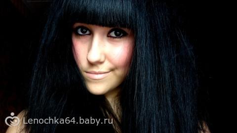 Фото черные волосы с челкой