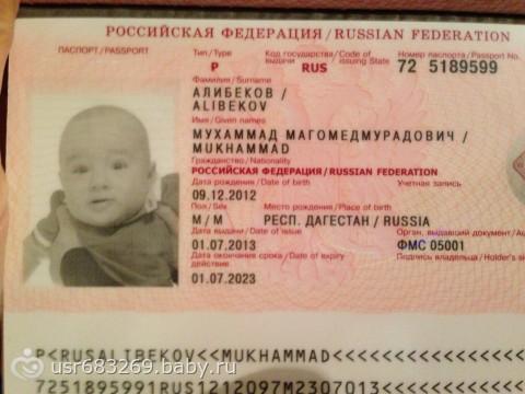 Как сделать загранпаспорт ребенку 1 год фото 696