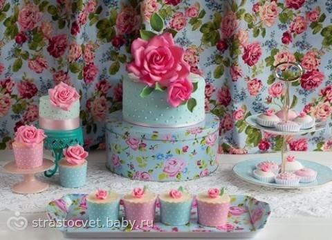 Цветы на тортах картинки