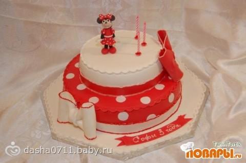 Детские тортики костанай на годик фото